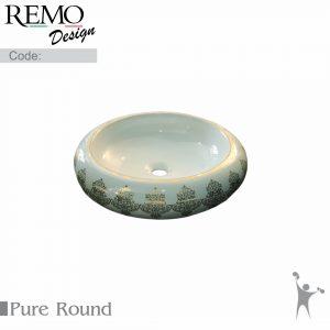 کاسه-روشویی-رو سنگی-رو-کابینتی-بدون-جای-شیر-رمو-دیزاین-مدل-pure-پیور-Product