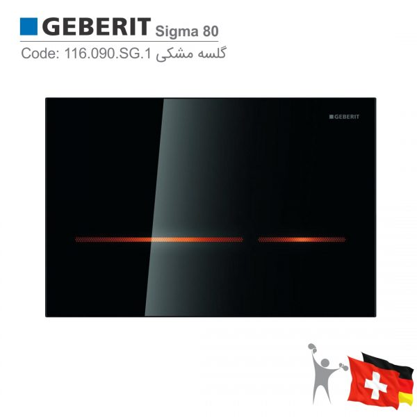 116.090.SG.1-سیگما-80-گلسه-مشکی-فلاش-تانک-توکار-گبریت-Geberit-Sigma-80