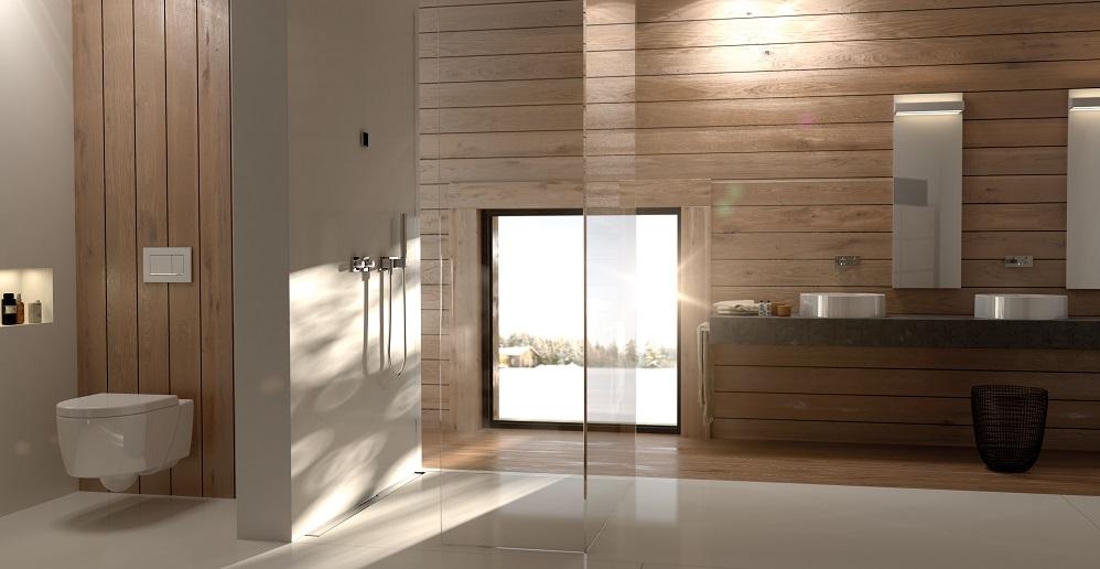 ایده طراحی سرویس بهداشتی دیوار طرح چوب