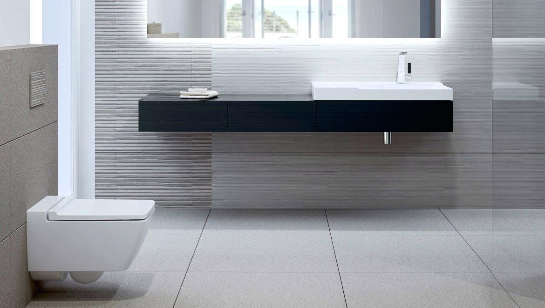 ایده طراحی سرویس بهداشتی سنگ کابینت مشکی