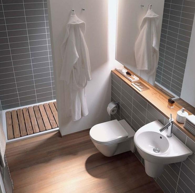 ایده طراحی سرویس بهداشتی طرح چوب طوسی سفید