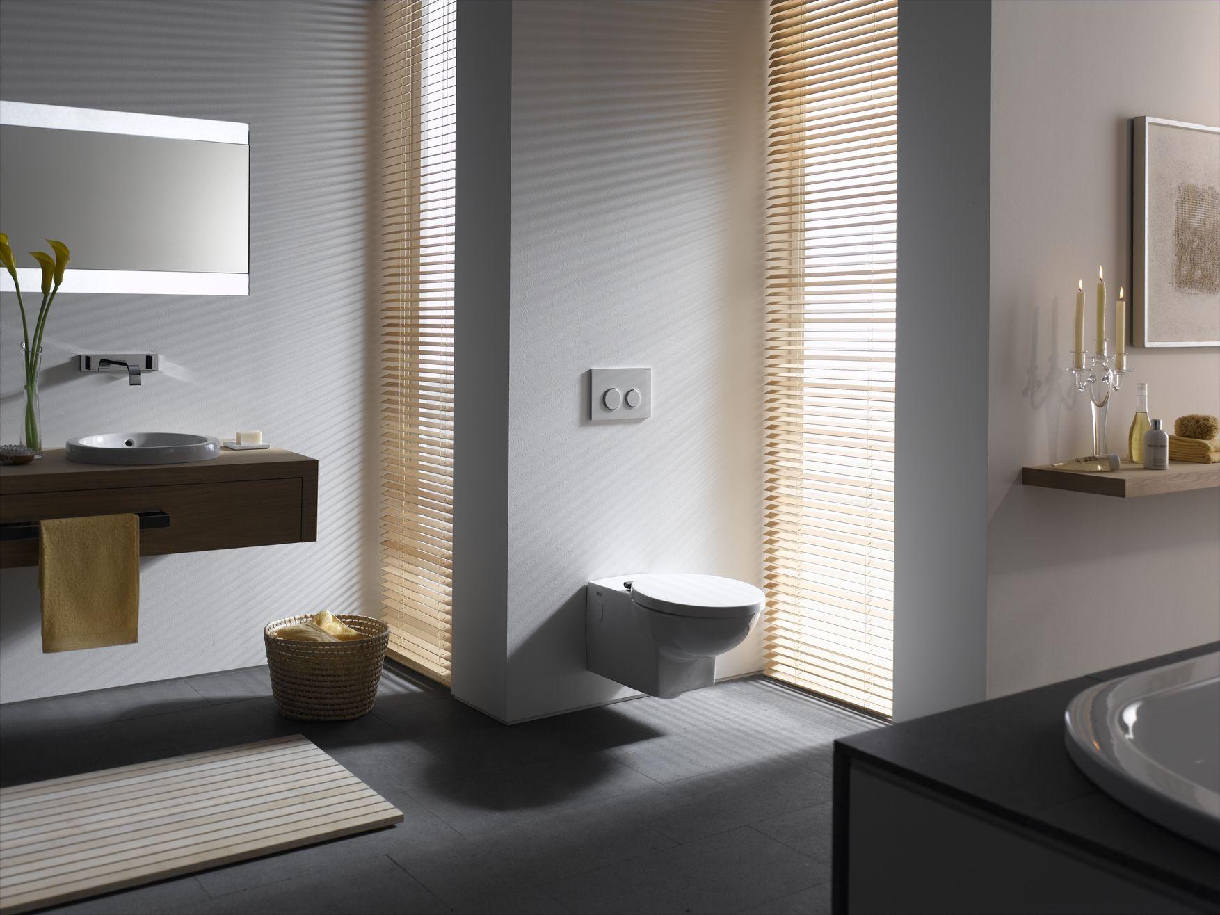 ایده طراحی سرویس بهداشتی طوسی سفید چوب